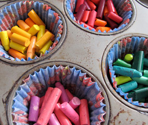 make your own recycled crayons