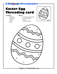 Easter Egg Threading Card demo