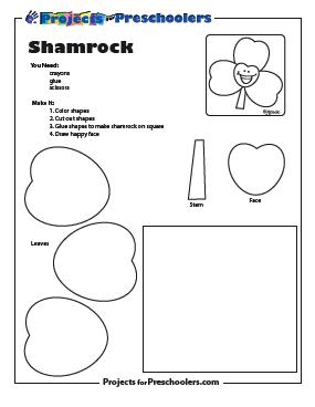 Happy little shamrock project printout preview