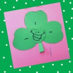 Make a happy shamrock craft