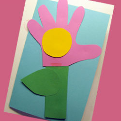 Handprint flower card for someone special