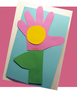 Flower handprint card