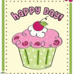 happy day cupcake coloring page