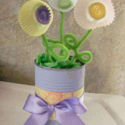 Mother's day craft – cupcake flower vase