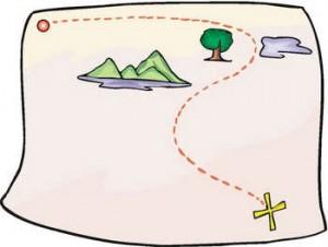 Plan a treasure hunt and make a treasure map