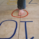 Play hopscotch inside or outside