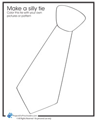 Silly tie for Dad coloring page