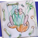 Cute frog lacing card printable