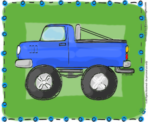 Monster truck coloring page - Projects for Preschoolers