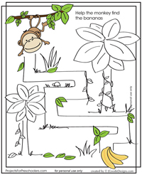 Monkey maze activity page