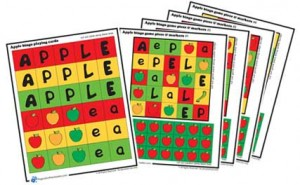 Free printable apple bingo game