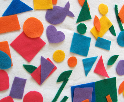 DIY Felt activity board and play set