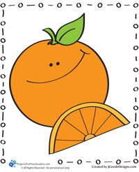 Happy orange coloring page