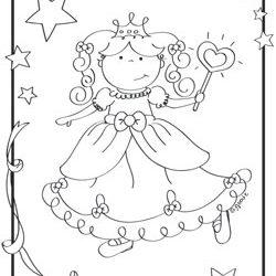 Pretty princess coloring page