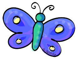 dark blue butterfly clipart by JGoode