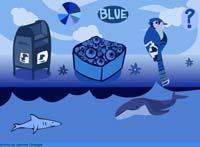 color blue online game