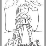 Rapunzel coloring page by Jen Goode