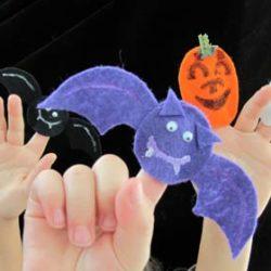 Easy Halloween finger puppets