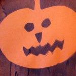 pumpkin stencil painting