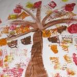 sponge painting tree