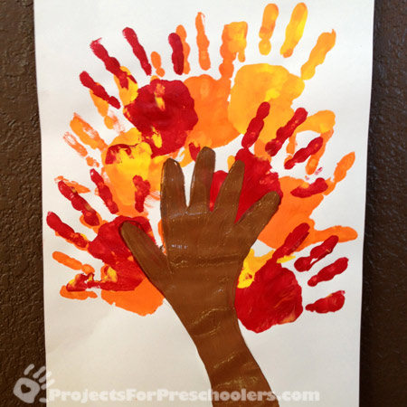 Handprint Art And Craft Projects For Fall Projects For Preschoolers