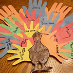 Thankful handprint turkey