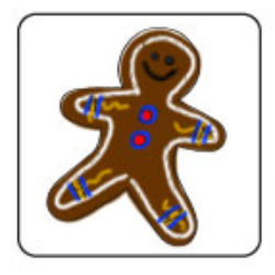 Decorate a paper gingerbread man