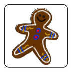 Decorate a paper gingerbread man