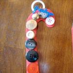 Button candy cane
