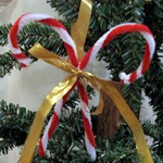 Candy cane decor craft