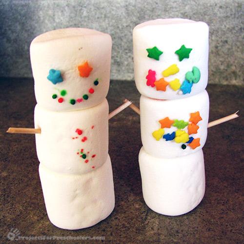 Make Marshmallow Snowmen