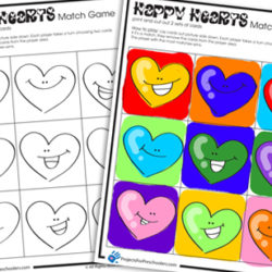 Happy Hearts Valentine matching game
