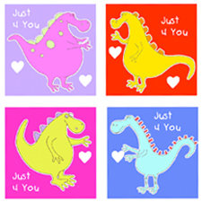 Dragon Valentines from Ziggity Zoom