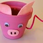 clay pig pot