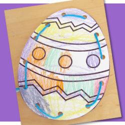 Easter Egg Threading Card