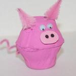 egg carton pig