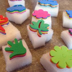 Foam Stamp fun