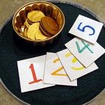 Pot of gold coins counting and sorting activity
