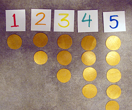 Under the rainbow gold coin counting