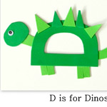 Dinosaur craft from Homeschool Creations