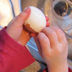 Making hard boiled eggs