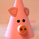 pig party hat