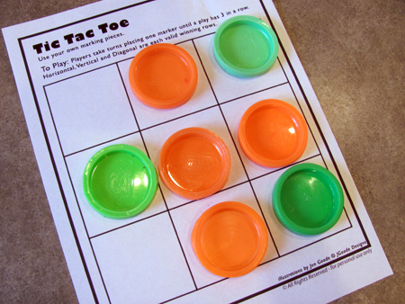 play dough lid tic-tac-toe