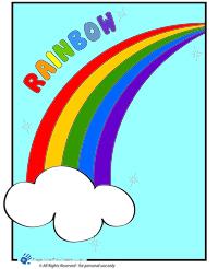 Color a rainbow
