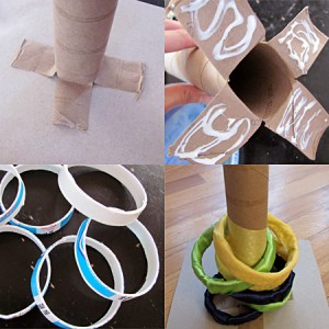 Make a ring toss game
