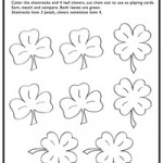 Shamrocks and clovers activity page