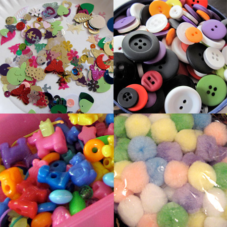 Using craft supplies for sorting activities