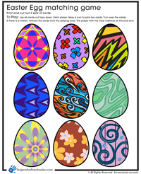 Easter Egg Match Game free preschool printable
