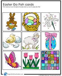Easter Go Fish Game printable