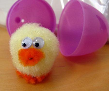 make a cute fuzzy chick